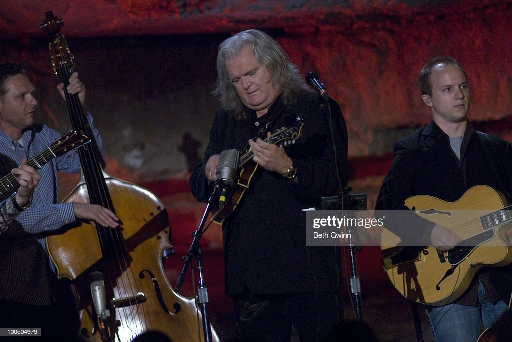 Mark Fain, Ricky Skaggs and Eddie Faris perform during Bluegrass Underground at the Cumberland Caverns on May 22, 2010 in McMinnville, Tennessee.
