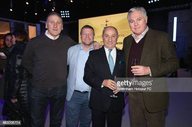 Mark Falco Micky Hazard Ossie Ardiles and Paul Miller during the premiere of 'The Lane' documentary film at BT Sport Studios on November 30 2017 in...