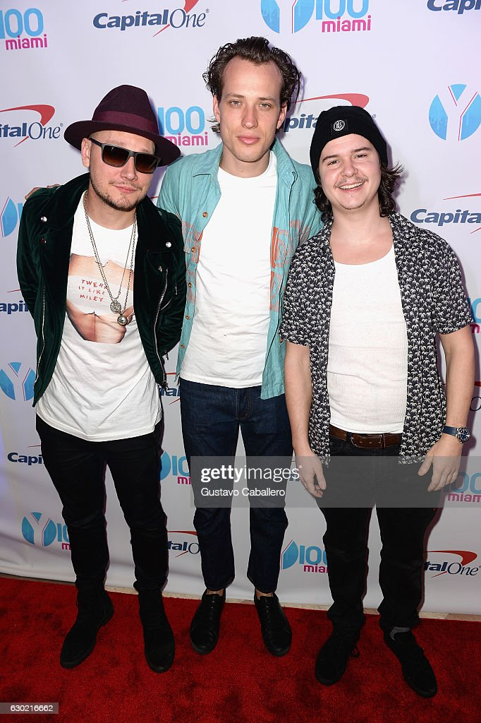 Mark Falgren, Magnus Larsson and Lukas Forchhammer attend the Y100's Jingle Ball 2016 - PRESS ROOM at BB&T Center on December 18, 2016 in Sunrise, Florida.