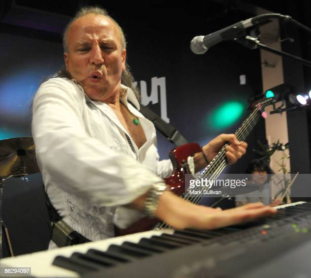Mark Farner of Grand Funk Railroad performs at Rock 'n' Roll Fantasy Camp Gala Kickoff and All-Star Jam at the Gibson Showroom on April 29, 2009 in...