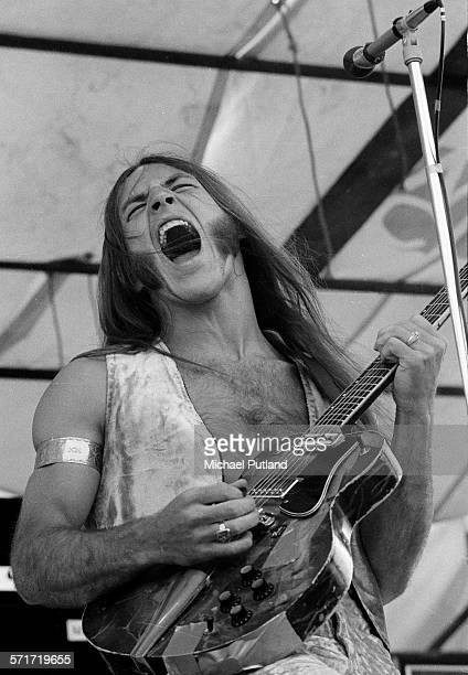 Mark Farner of Grand Funk Railroad performs on stage at Hyde Park, London, 3rd July 1971.