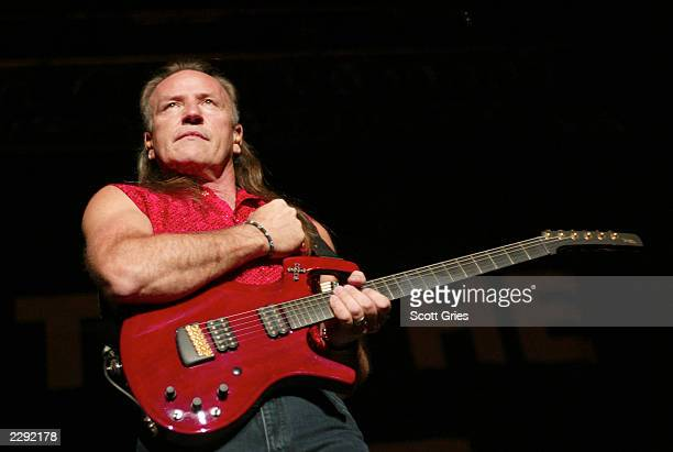 Mark Farner performs at the Rock To The Rescue Concert to benefit the victims of 9/11 at the Continetal Airlines Arena in East Rutherford, New...