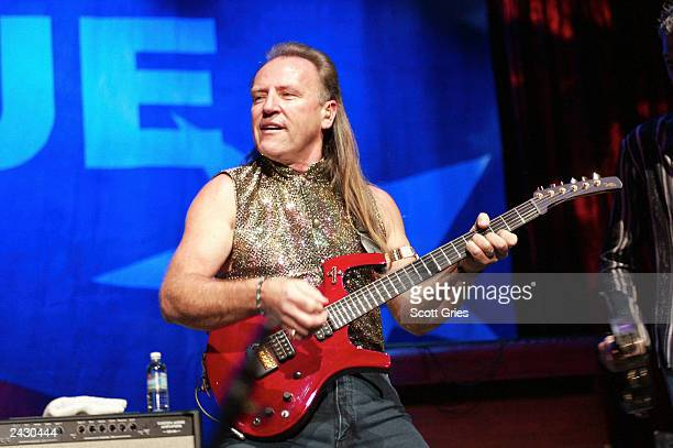 Mark Farner performs at the Rock To The Rescue Concert to benefit the victims of 9/11 and the Rock N' Roll Hall of Fame Children's Education Fund at...