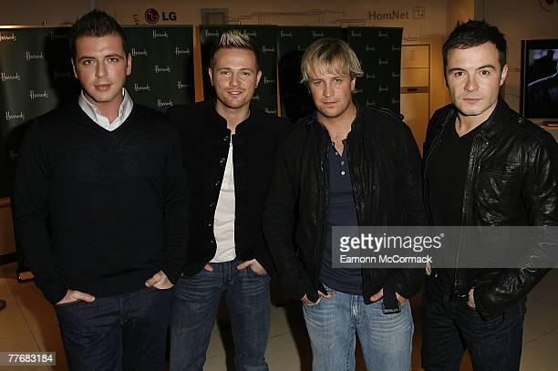 Mark Feehily Nicky Byrne Kian Egan and Shane Filan 'Westlife' Launch their new album 'Back Home' at Harrods Knightsbridge on 05 November 2007 in...
