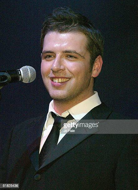Mark Feehily of Westlife performs on stage at GAY at The Astoria on December 4 2004 in London England