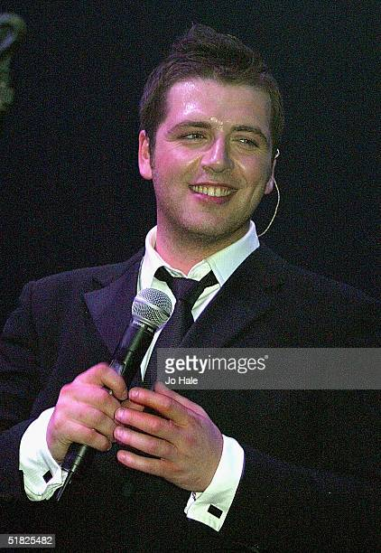 Mark Feehily of Westlife performs on stage at GAY at The Astoria on December 4 2004 in London *