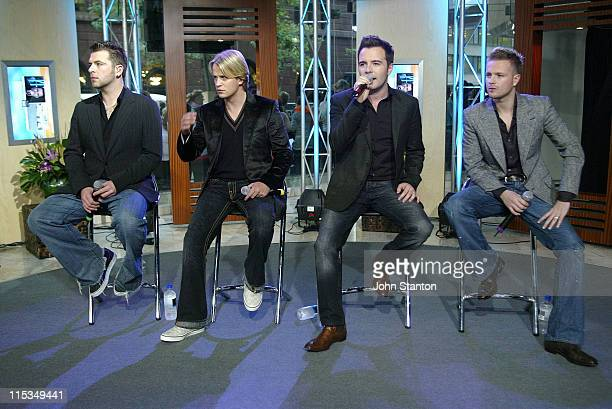 Mark FeehilyKian EganShane Filan and Nicky Byrne of Westlife
