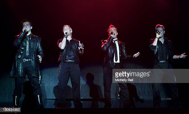 Mark FeehilyKian EganShane FilanNicky Byrne of Westlife perform