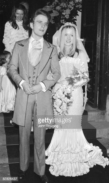 Mark Fenwick marries Margaret Hue Williams at St George's church Hanover Square London 9th November 1972