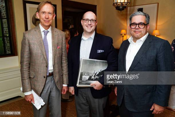 Mark Ferguson Scott Sottile and Damian Samora attend A Country House Gathering To Benefit Preservation Long Island on June 28 2019 in Locust Valley...