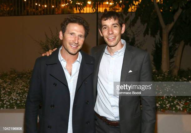 Mark Feuerstein and Alex Honnold attend the LA Film Festival gala screening of National Geographic Documentary Films Free Solo at the Wallis...