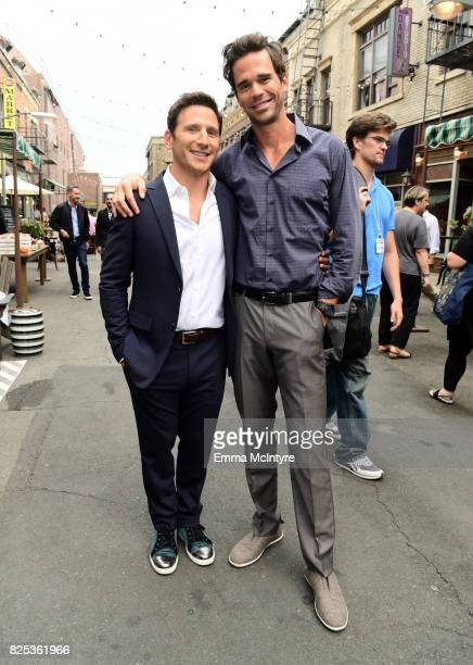 Mark Feuerstein and David Walton attend the 2017 Summer TCA Tour CBS Television Studios' Summer Soiree at CBS Studios Radford on August 1 2017 in...