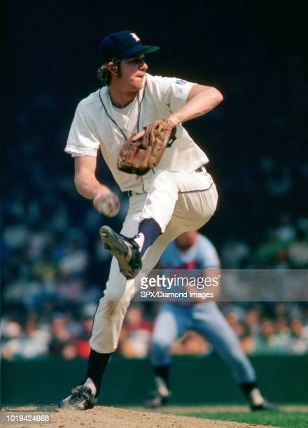 Mark Fidrych of the Detroit Tigers pitching during a game from his 1976 season with the Detroit Tigers Mark Fidrych played for 5 seasons all with the...