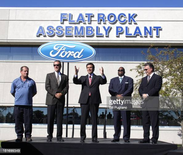 Ford makes announcement at flat rock assembly plant photos for Ford motor company executives
