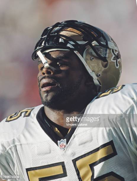 Mark Fields Linebacker for the New Orleans Saints during the National Football Conference West game against the Arizona Cardinals on 20 December 1998...