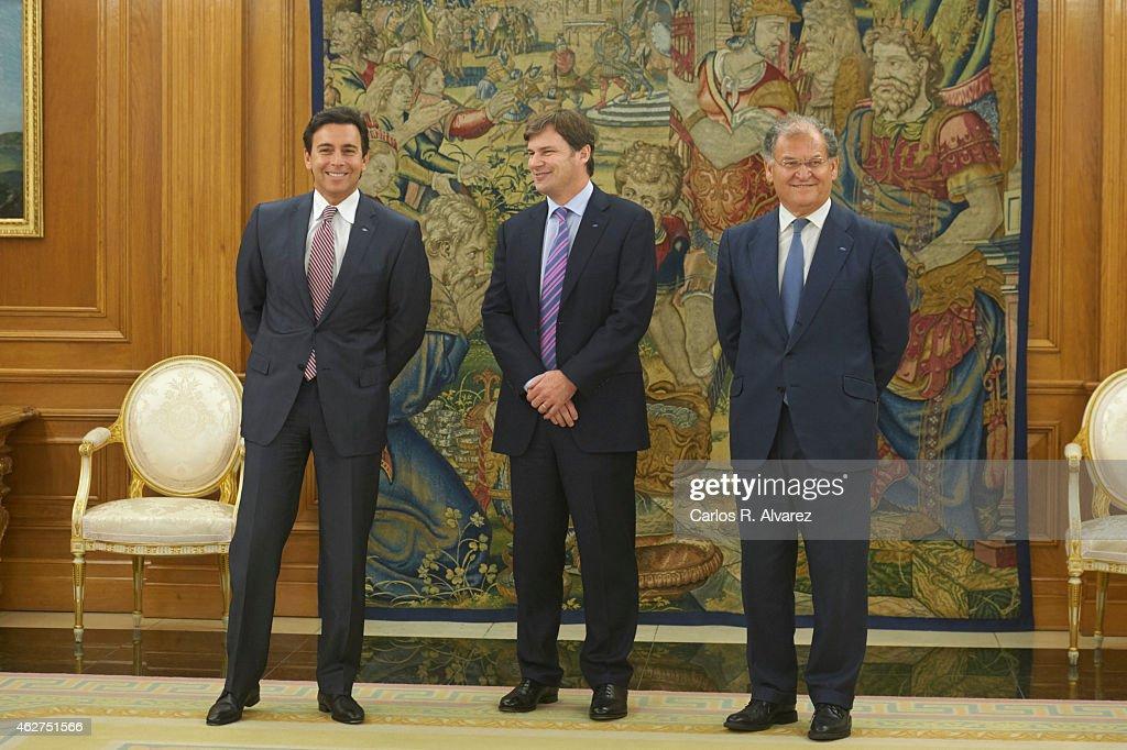 King Felipe VI Of Spain Meets President of Ford Motor Company at Zarzuela Palace