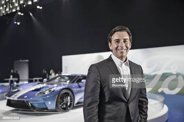 Mark Fields president and chief executive officer of Ford Motor Co poses for a photograph following a Bloomberg Television interview in Shanghai...