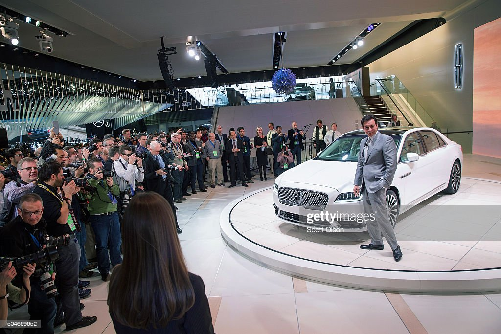 Mark Fields, president and chief executive officer of Ford Motor Company, poses following the introduction of the 2017 Continental at the North American International Auto Show on January 12, 2016 in Detroit, Michigan. The car was introduced as a concept at the 2015 New York Auto Show. The Detroit show is open to the public from January 16-24.
