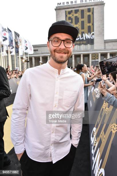 Mark Forster arrives at the Echo Award 2018 at Messe Berlin on April 12 2018 in Berlin Germany