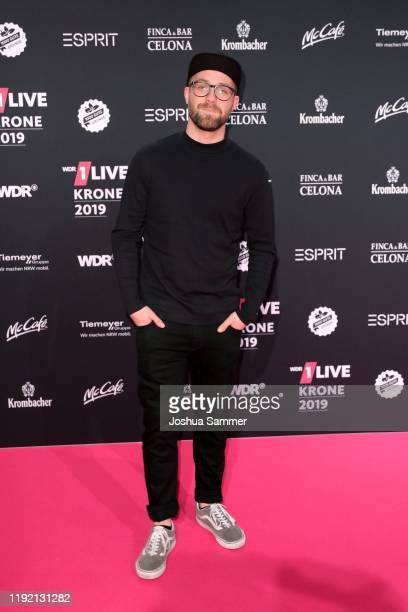 Mark Forster arrives for the 1Live Krone radio award at Jahrhunderthalle on December 05 2019 in Bochum Germany