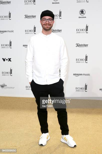 Mark Forster arrives for the Echo Award at Messe Berlin on April 12 2018 in Berlin Germany
