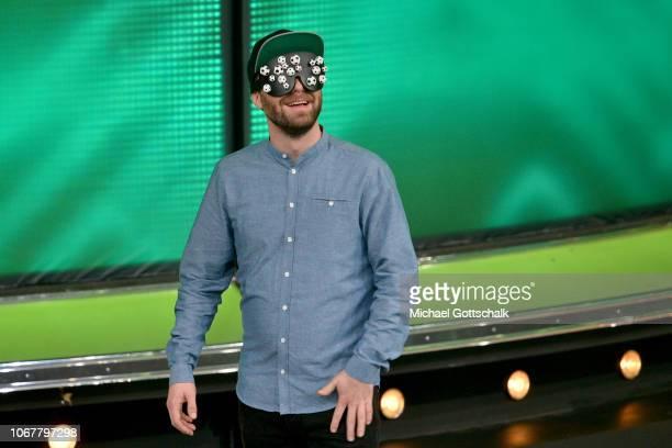 Mark Forster is seen on stage during the tv show '2018 Menschen Bilder Emotionen' on December 3 2017 in Cologne Germany