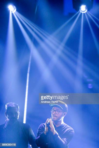 Mark Forster performs on stage during the 1Live Krone radio award at Jahrhunderthalle on December 07 2017 in Bochum Germany