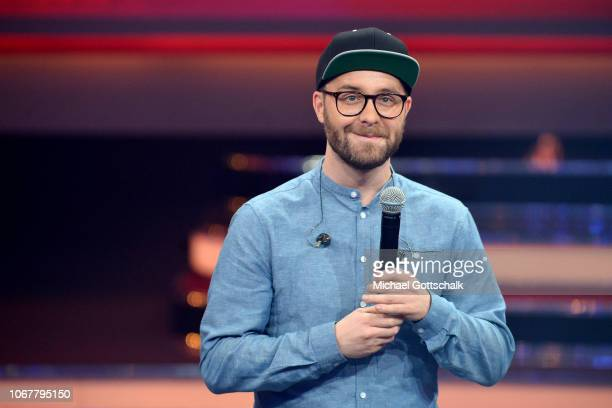 Mark Forster performs on stage during the tv show '2018 Menschen Bilder Emotionen' on December 3 2017 in Cologne Germany