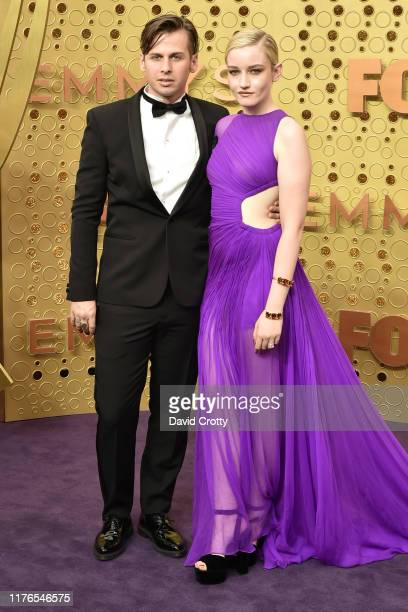 Mark Foster and Julia Garner attend the 71st Emmy Awards at Microsoft Theater on September 22, 2019 in Los Angeles, California.