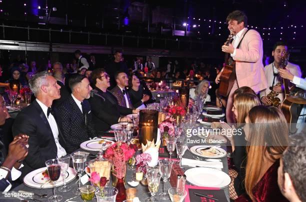 Mark Foster David Furnish Sir Elton John Sam Smith AnneMarie attend CLUB LOVE for the Elton John AIDS Foundation in association with BVLGARI on...