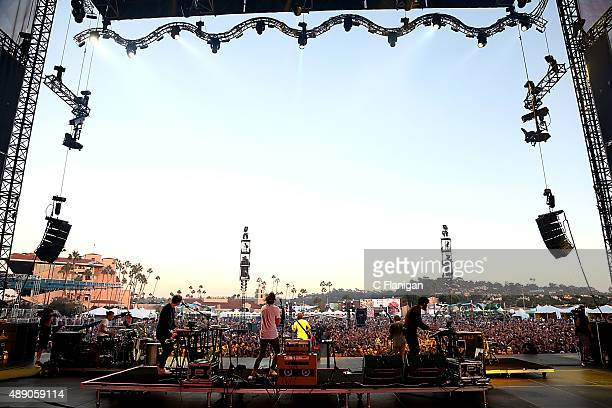 Mark Foster of Foster the People performs during day 1 of Kaaboo on September 18 2015 in Del Mar California