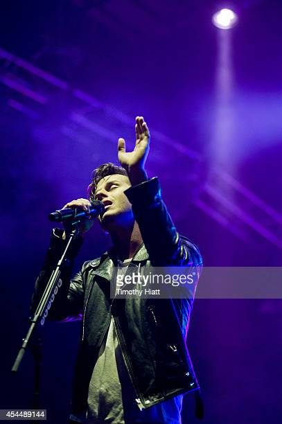 Mark Foster of Foster The People performs on day three of the Bumbershoot Music and Arts Festival September 1 2014 in Seattle Washington