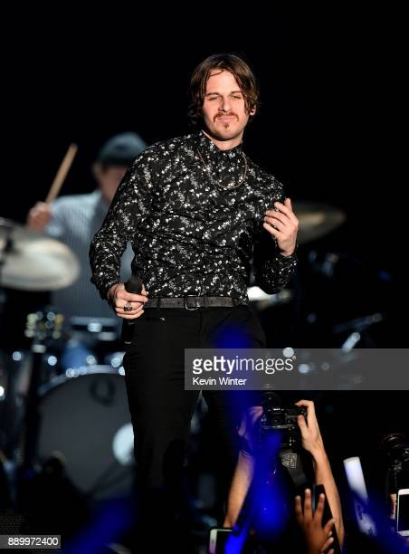 Mark Foster of Foster the People performs onstage during KROQ Almost Acoustic Christmas 2017 at The Forum on December 10 2017 in Inglewood California