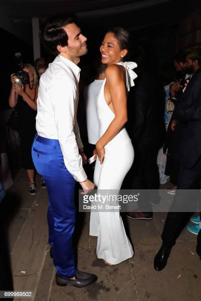 Mark Francis Vandelli and Emma McQuiston attend Kate Moss Mario Sorrenti launch of the OBSESSED Calvin Klein fragrance at Spencer House on June 22...