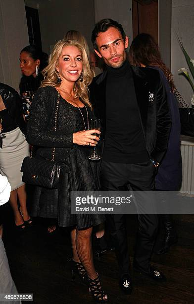Mark Francis Vandelli and guest attend an after party for the exclusive viewing of 'McQueen' hosted by Karim Al Fayed for Lonely Rock Investments...