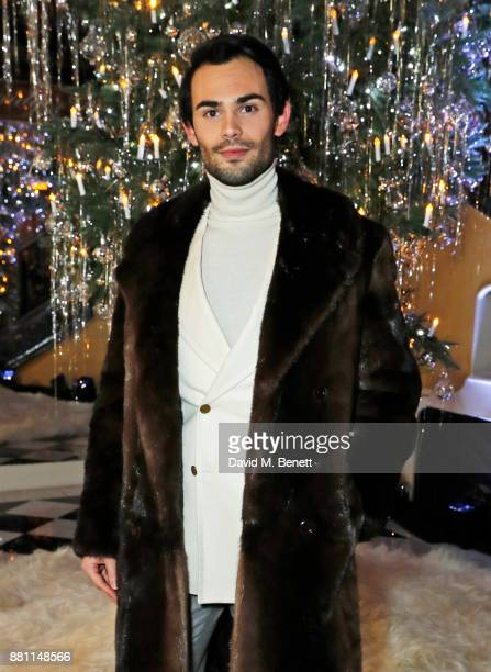 Mark Francis Vandelli attends Claridge's Christmas Tree Party 2017 designed by Karl Lagerfeld on November 28 2017 in London United Kingdom