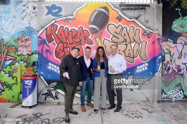 CES Mark French Nadia Eke and Mike Tannenbaum attend the X2 Performance SuperBowl LIV Breakfast at Museum of Graffiti on January 31 2020 in Miami...