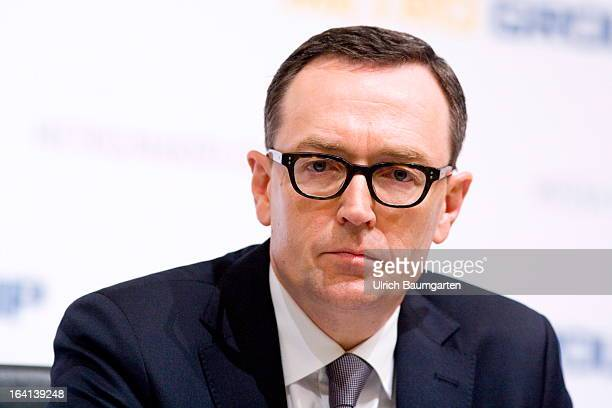 Mark Frese financial chairman of the Metro AG during the company's results news conference on March 20 2013 in Duesseldorf GermanyThe German retail...
