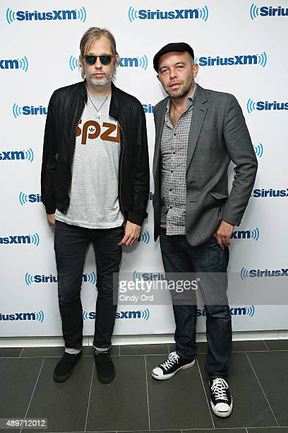 Mark Gardener and Andy Bell of Ride visit the SiriusXM Studios on September 23 2015 in New York City