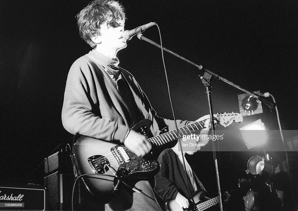 Mark Gardener from Ride performs live on stage at The Astoria in London on January 14 1990
