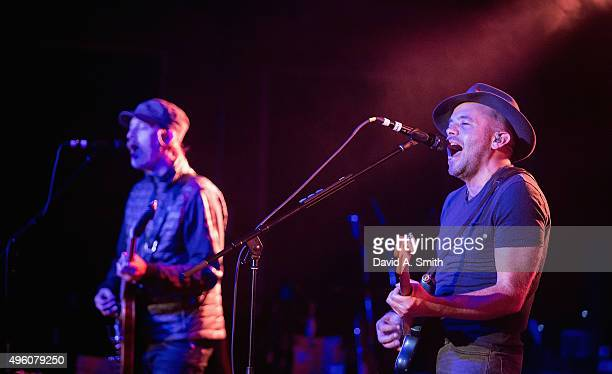 Mark Gardener of Ride performs at Saturn Birmingham on November 6 2015 in Birmingham Alabama