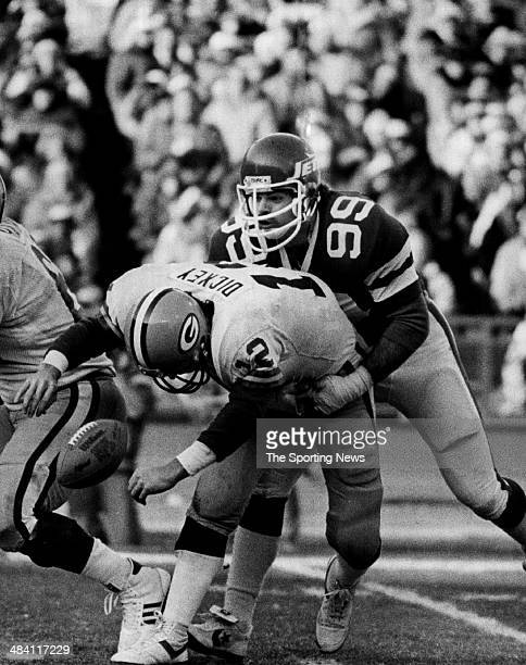 Mark Gastineau of the New York Jets sacks the quarterback circa 1980s