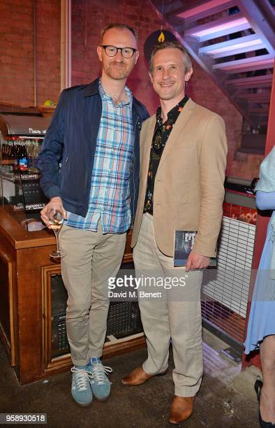 Mark Gatiss and Ian Hallard attend the Park Theatre's 5th Birthday featuring a gala performance of Building The Wall on May 15 2018 in London England