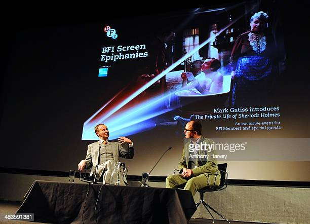 Mark Gatiss and Ian Haydn Smith at BFI Southbank introducing The Private Life of Sherlock Holmes part of the BFI Screen Epiphanies series a monthly...