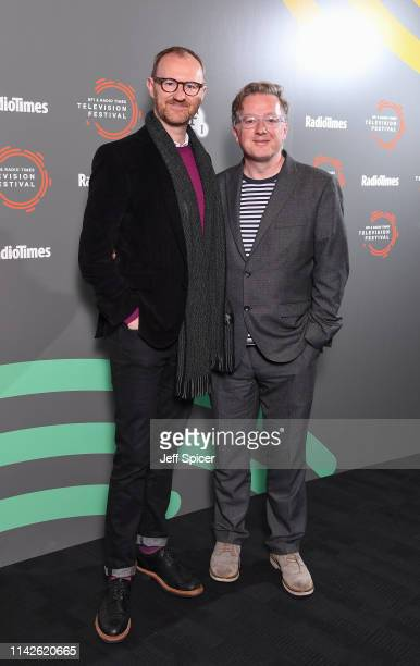 Mark Gatiss and Matthew Sweet attend the 'In Conversation: Mark Gatiss on Ghost Stories' photocall during the BFI & Radio Times Television Festival...