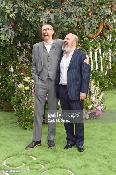 "Mark Gatiss and Paul Chahidi attend the World Premiere of new Amazon Original ""Good Omens"" at the Odeon Luxe Leicester Square on May 28, 2019 in..."