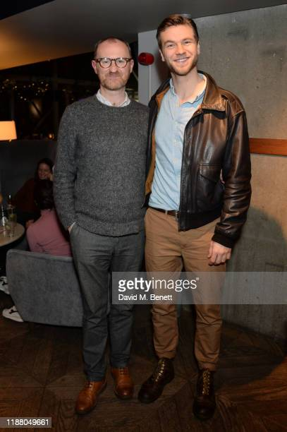 "Mark Gatiss and Wilf Scolding attend the BBC preview screening of ""Martin's Close"" at the BFI Southbank on December 11, 2019 in London, England."