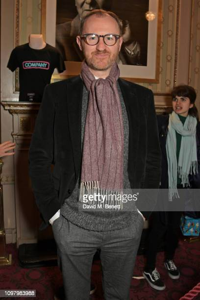 "Mark Gatiss attends a performance of ""Company"" in the West End at The Gielgud Theatre on February 11, 2019 in London, England."