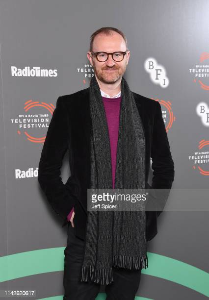 Mark Gatiss attends the 'In Conversation: Mark Gatiss on Ghost Stories' photocall during the BFI & Radio Times Television Festival 2019 at BFI...