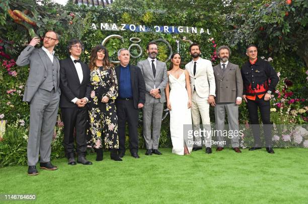 Mark Gatiss, Neil Gaiman, Josie Lawrence, Douglas Mackinnon, Jon Hamm, Adria Arjona, David Tennant, Michael Sheen and Rob Wilkins attend the World...